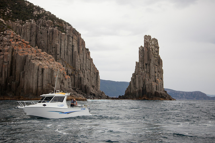 Wild and rugged coastline of Tasmania's legendary Tasman Peninsula