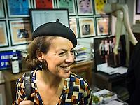 Delphine Higonnet (Renault patrimoine) at the launch party of Paris Boogie Speakeasy, founded by Yves Riquet, official historian of the Crazy Horse striptease club, held at 256 Rue Marcadet, Paris on Friday 21st March, 2013. Yves Riquet is planning to establish Paris Boogie Speakeasy as a permanent club in Paris for the 'réenchantement de la vie nocturne parisienne'.