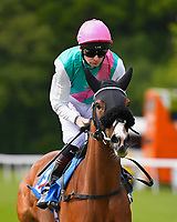 Frisella ridden by Robert Havlin goes down to the start of The Byerley Stud British EBF Fillies' Handicap during Afternoon Racing at Salisbury Racecourse on 16th May 2019