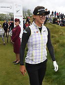 30th September 2017, Windross Farm, Auckland, New Zealand; LPGA McKayson NZ Womens Open, third round;  Spain's Belen Mozo at the first tee