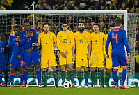 Australia players during the International Friendly match between Colombia and Australia at Craven Cottage, London, England on 27 March 2018. Photo by Andrew Aleksiejczuk / PRiME Media Images.