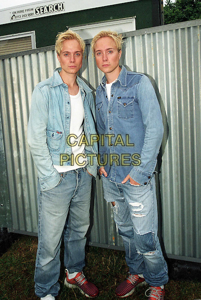 "UNNAMED  ? KARL? CARL?.Australian music duo.""Pride in the Park"" 2003.www.capitalpictures.com.sales@capitalpictures.com.©Capital Pictures"