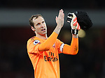 Arsenal's Peter Cech celebrates at the final whistle during the premier league match at the Emirates Stadium, London. Picture date 11th August 2017. Picture credit should read: David Klein/Sportimage