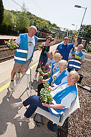 Volunteers help to keep Kidsgrove Station looking good.