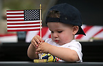 Joseph Jacobson, 18-months, waits for the start of the 4th annual Veterans Suicide Awareness March held by the Western Nevada College Veterans Resource Center, in Carson City, Nev., on Saturday, May 5, 2018. <br /> Photo by Cathleen Allison/Nevada Momentum
