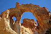 Grosvenor Arch, a double-arch, at the Grand Staircase Escalante National Monument in Southern Utah