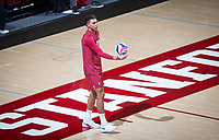 STANFORD, CA - March 14, 2019: Jaylen Jasper at Maples Pavilion. The #8 Stanford Cardinal fell to the #6 Pepperdine Waves 3-0.