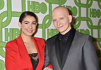BEVERLY HILLS, CA - JANUARY 06: Anthony Carrigan (R) and Gia Carrigan attend HBO's Official Golden Globe Awards After Party at Circa 55 Restaurant at the Beverly Hilton Hotel on January 6, 2019 in Beverly Hills, California.<br /> CAP/ROT/TM<br /> ©TM/ROT/Capital Pictures