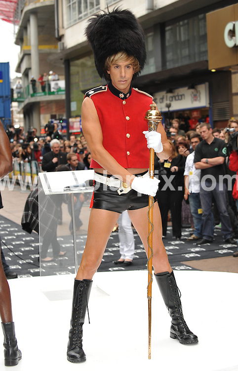 **ALL ROUND PICTURES FROM SOLARPIX.COM**.**WORLDWIDE SYNDICATION RIGHTS**.UK Premiere of Sacha Baron Cohen's latest film, Bruno at the Empire Leicester Square in London..This pic:   Sacha Baron Cohen.JOB REF:  9268   SSD    DATE:  17.06.09.**MUST CREDIT SOLARPIX.COM OR DOUBLE FEE WILL BE CHARGED**.**ONLINE USAGE FEE GBP 50.00 PER PICTURE - NOTIFICATION OF USAGE TO PHOTO @ SOLARPIX.COM**.**CALL SOLARPIX : +34 952 811 768 or LOW RATE FROM UK 0844 617 7637**