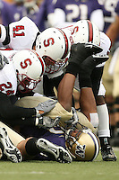 11 November 2006: Trevor Hooper and Tom McAndrew during Stanford's 20-3 win over the Washington Huskies in Seattle, WA.