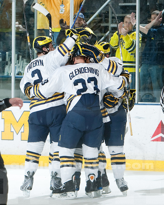 3/5/2010 Michigan vs. Lake Superior State University ice hockey at Yost Ice Arena.  U-M won 5-2.