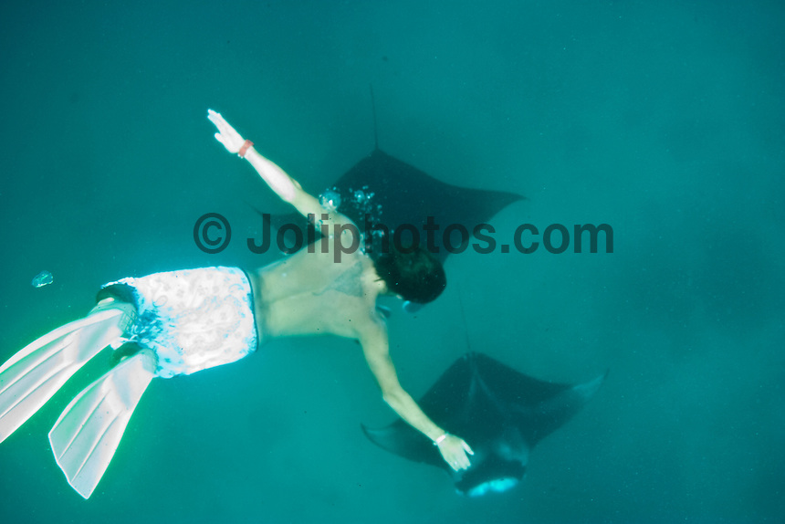 JOAO GUEDES  (PRT) diving with manta rays in the South Male Atolls, Maldives (Monday, June 15th, 2009). Photo: joliphotos.com