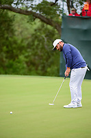 J.J. Spaun (USA) watches his putt on 4 during round 3 of the Valero Texas Open, AT&amp;T Oaks Course, TPC San Antonio, San Antonio, Texas, USA. 4/22/2017.<br /> Picture: Golffile | Ken Murray<br /> <br /> <br /> All photo usage must carry mandatory copyright credit (&copy; Golffile | Ken Murray)