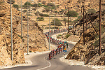 The peleton in action during Stage 4 of the 2018 Tour of Oman running 117.5km from Yiti (Al Sifah) to Ministry of Tourism. 16th February 2018.<br /> Picture: ASO/Muscat Municipality/Kare Dehlie Thorstad | Cyclefile<br /> <br /> <br /> All photos usage must carry mandatory copyright credit (&copy; Cyclefile | ASO/Muscat Municipality/Kare Dehlie Thorstad)