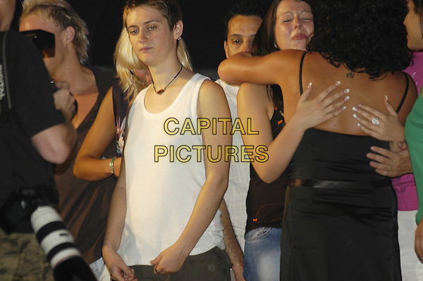 KITTEN, EMMA & NADIA.Big Brother 5 Final Eviction.August 6th, 2004.half length, tank top.www.capitalpictures.com.sales@capitalpictures.com.©Capital Pictures