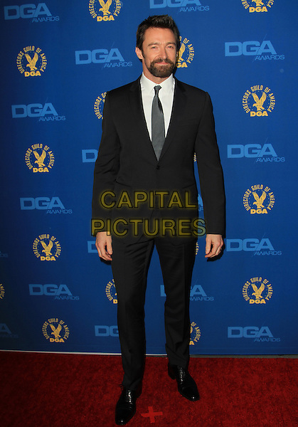 Hugh Jackman.65th Annual Directors Guild Of America Awards - Arrivals - Press Room Held At The Ray Dolby Ballroom at Hollywood & Highland Center, Hollywood, California, USA..February 2nd, 2013.full length black suit white shirt goatee facial hair.CAP/ADM/KB.©Kevan Brooks/AdMedia/Capital Pictures.