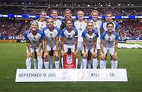 Atlanta, GA - September 18, 2016: The USWNT defeated the Netherlands 3-1 during their international friendly at the Georgia Dome.