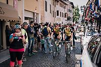 on their way to the start<br /> <br /> stage 14 San Vito al Tagliamento – Monte Zoncolan (186 km)<br /> 101th Giro d'Italia 2018
