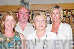 BETS: Placing their bets on the 5th Race at the Kingdom Greyhound Stadium, Tralee on Friday evening l-r: Frances Lynch (Tralee), Denis Ward (Abbeyfeale), Eileen Diggin (Causeway) and Karen Clifford (Tralee)..
