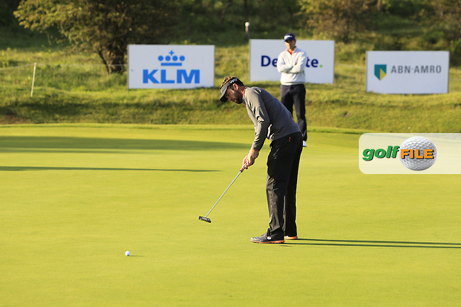 Scott Jamieson (SCO) on the 2nd green during Round 1 of the 2015 KLM Open at the Kennemer Golf &amp; Country Club in The Netherlands on 10/09/15.<br /> Picture: Thos Caffrey | Golffile