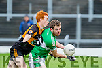 No Foul<br /> ----------<br /> Austin Stack man Shane Callaghan polices Killarney Legion player Sean McCarthy during the game they played at Fitzgerald Stadium, Killarney last Sunday afternoon.