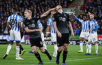 Burnley's Chris Wood rues a near miss with team mate Ben Mee<br /> <br /> Photographer Andrew Kearns/CameraSport<br /> <br /> The Premier League - Huddersfield Town v Burnley - Wednesday 2nd January 2019 - John Smith's Stadium - Huddersfield<br /> <br /> World Copyright © 2019 CameraSport. All rights reserved. 43 Linden Ave. Countesthorpe. Leicester. England. LE8 5PG - Tel: +44 (0) 116 277 4147 - admin@camerasport.com - www.camerasport.com