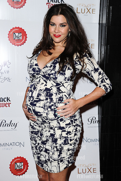 Imogen Thomas arriving for the launch of Chloe Sims' book at Luxe nightclub, Essex. 13/11/2012 Picture by: Alexandra Glen / Featureflash