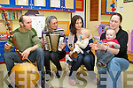 Pictured at Kerry General Hospital at a music session for children in hospital on Friday were, Malton Scharer, Ruti Lachs, Helen Olivier Courtney, Jamie Courtney,  Diana Broderick and Lorcan Broderick...