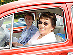 Kit Fay and mary McKeown pictured in their 1967 VW Beetle at the Ladywell Fete held in the grounds of Slane castle. Photo: www.pressphotos.ie