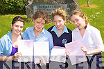 Castleisland Presentation girls l-r: Lorraine Griffin Currans, Maria Kerins Scartaglen, Bri?d O'Shea Farranfore and Sinead Kirwan Cordal who were happy with English paper 1 in the Leaving Cert on Wednesday