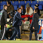 Tommy Wright and Pedro Caixinha handshake at full time
