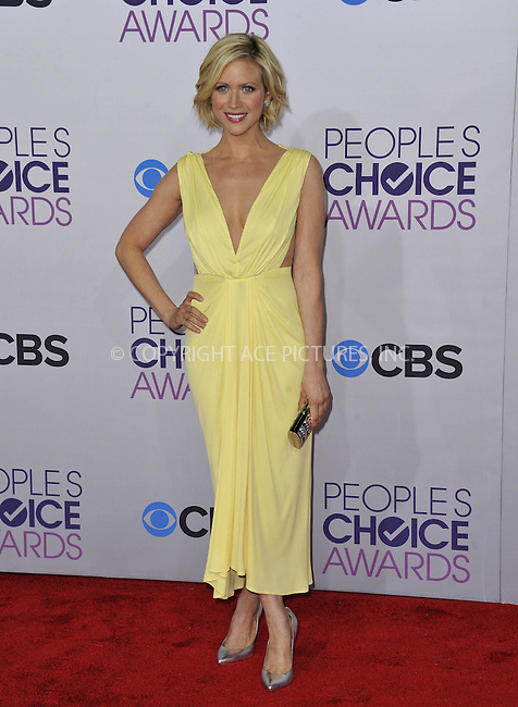 WWW.ACEPIXS.COM......January 9, 2012, Los Angeles, CA.....Brittany Snow arriving at the People's Choice Awards at the Nokia Theatre L.A. on January 9, 2013 in Los Angeles, California. ..........By Line: Peter West/ACE Pictures....ACE Pictures, Inc..Tel: 646 769 0430..Email: info@acepixs.com