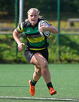 20190928 - Neder Over Hembeek, BELGIUM : Dendermonde's player is pictured running with the ball during the female rugby match between the Dendermonde RC Women  and AAC Amsterdam Rugby Women, this is the final of the BeNeCup  on Saturday 28th September 2019 at the Nelson Mandela Stadium , Belgium. PHOTO SPORTPIX.BE | SEVIL OKTEM