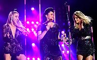 08 June 2019 - Nashville, Tennessee - Miranda Lambert, Ashley Monroe, Angaleena Presley, Pistol Annies. 2019 CMA Music Fest Nightly Concert held at Nissan Stadium. Photo Credit: Dara-Michelle Farr/AdMedia