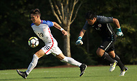 Portland, OR - Wednesday August 09, 2017: Sebastian Soto during friendly match between the USMNT U17's and Chile u17's at Nike World Headquarters in Portland, OR.