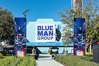 The Blue Man Group theatre at Universal Orlando resort, Orlando, Florida, USA