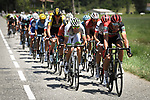 The breakaway group led by Greg Van Avermaet (BEL) BMC Racing Team in action during Stage 16 of the 2018 Tour de France running 218km from Carcassonne to Bagneres-de-Luchon, France. 24th July 2018. <br /> Picture: ASO/Pauline Ballet | Cyclefile<br /> All photos usage must carry mandatory copyright credit (© Cyclefile | ASO/Pauline Ballet)