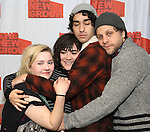 "Abigail Breslin, Isabelle Fuhrman, Alex Wolff and Joe Tippett attend the New Group's ""All the Fine Boys"" rehearsal photocall at their rehearsal studio on February 3, 2017 in New York City."