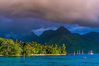 Island of Moorea, French Polynesia.