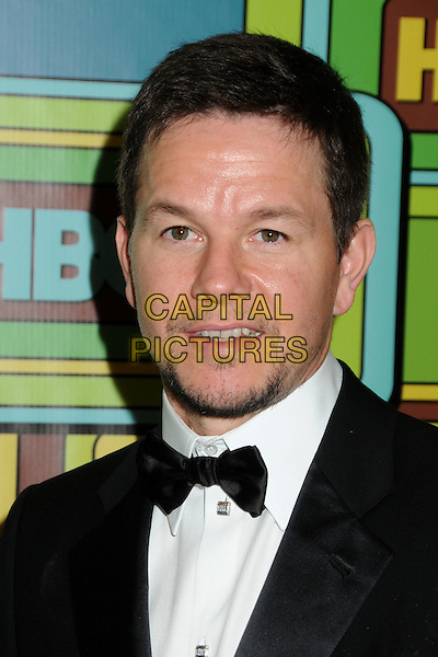 MARK WAHLBERG.HBO 2011 Post Golden Globe Awards Party held at The Beverly Hilton Hotel, Beverly Hills, California, USA..January 16th, 2011.headshot portrait black white bow tie goatee facial hair .CAP/ADM/BP.©Byron Purvis/AdMedia/Capital Pictures.