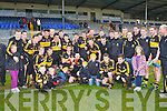 Crokes players and supporters celebrate after they won the O'Donoghue Cup final in Fitzgerald Stadium on Sunday