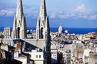 Cityscape view of the Reformes quarter and the Marseilles Cathedral, Marseille, France.
