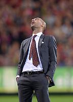 Fussball  1. Bundesliga  Saison 2013/2014  4. Spieltag SC Freiburg - FC Bayern Muenchen        27.08.2013 Trainer Pep Guardiola (FC Bayern Muenchen) enttaeuscht