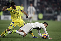Calcio, Serie A: Juventus - Chievo Verona, Turin, Allianz Stadium, January 21, 2019.<br /> Juventus' Cristiano Ronaldo (r) in action with Chievo's Luca Rossettini (l) during the Italian Serie A football match between Juventus and Chievo Verona at Torino's Allianz stadium, January 21, 2019.<br /> UPDATE IMAGES PRESS/Isabella Bonotto