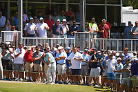 Paul Casey (GBR) hits from near the grandstand on 18 during round 1 of the WGC FedEx St. Jude Invitational, TPC Southwind, Memphis, Tennessee, USA. 7/25/2019.<br /> Picture Ken Murray / Golffile.ie<br /> <br /> All photo usage must carry mandatory copyright credit (© Golffile | Ken Murray)