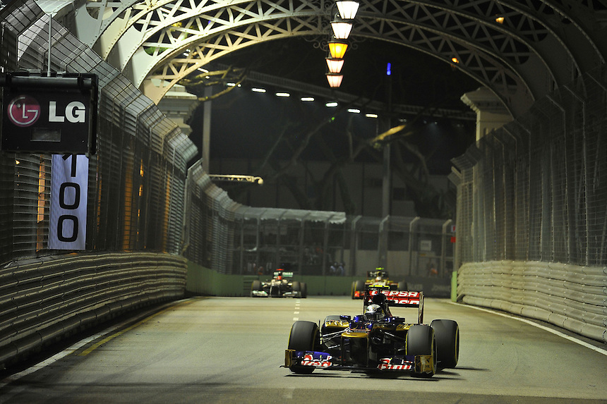 .Jean Eric Vergne [FRA] Scuderia Toro Rosso ..2012 FIA Formula One World Championship - Singtel Formula One Grand Prix, Marina Bay Street Circuit, Singapore, Singapore, Friday 21st September 2012...