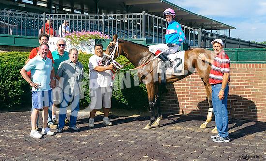 Elusive Joni winning at Delaware Park on 8/15/16