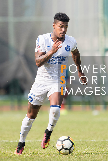 Bruno da Silva Sabino R&F F.C in action during the week three Premier League match between Kwoon Chung Southern and R&F at Aberdeen Sports Ground on September 16, 2017 in Hong Kong, China. Photo by Marcio Rodrigo Machado / Power Sport Images