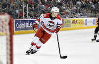 HERSHEY, PA - FEBRUARY 09: Charlotte Checkers center Martin Necas (88) loops back into his own end during the 3-on-3 overtime period during the Charlotte Checkers vs. Hershey Bears AHL game February 9, 2019 at the Giant Center in Hershey, PA. (Photo by Randy Litzinger/Icon Sportswire)