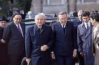 - Mikhail Gorbachev, President of the Soviet Union, on a state visit with the Italian prime minister Giulio Andreotti<br /> <br /> - Mikhail Gorbaciov, presidente dell'Unione Sovietica, in visita di stato coll presidente del consiglio italiano Giulio Andreotti